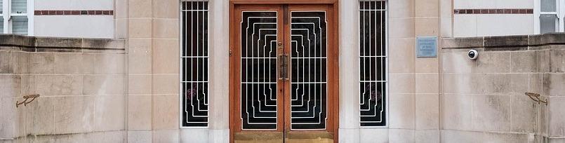 Dekoratív ajtórács, ajtórács, art deco ajtórács